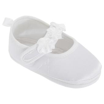 Baby Girls Faux Satin Mary Jane Christening Shoes
