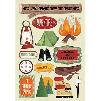 Outdoors Camping Cardstock Stickers 5.5