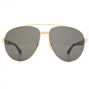 Gucci Iconic Pilot Sunglasses In Gold Black