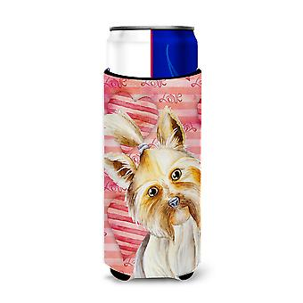 Yorkie Yorkshier Terrier Love Michelob Ultra Hugger for slim cans