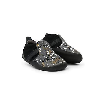 Bobux Xplorer Spekkel Grey Leather First Steps Shoes With White, Gold & Black Speckles