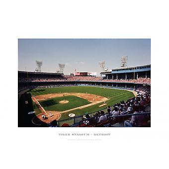 Tiger Stadium Detroit Poster Print by Ira Rosen (19 x 13)