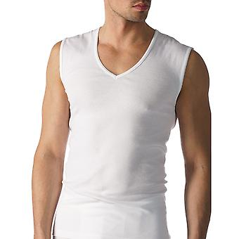 Mey 49037-101 Men's Casual Cotton White Solid Colour Fitted Boxer