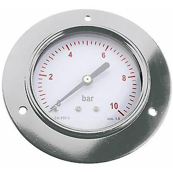 Manometer ICH 304.40.10 Back side 0 up to 10 bar External thread 1/8