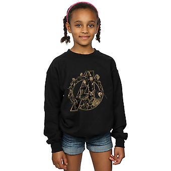 Marvel Girls Avengers Infinity War Marvel Logo Sweatshirt
