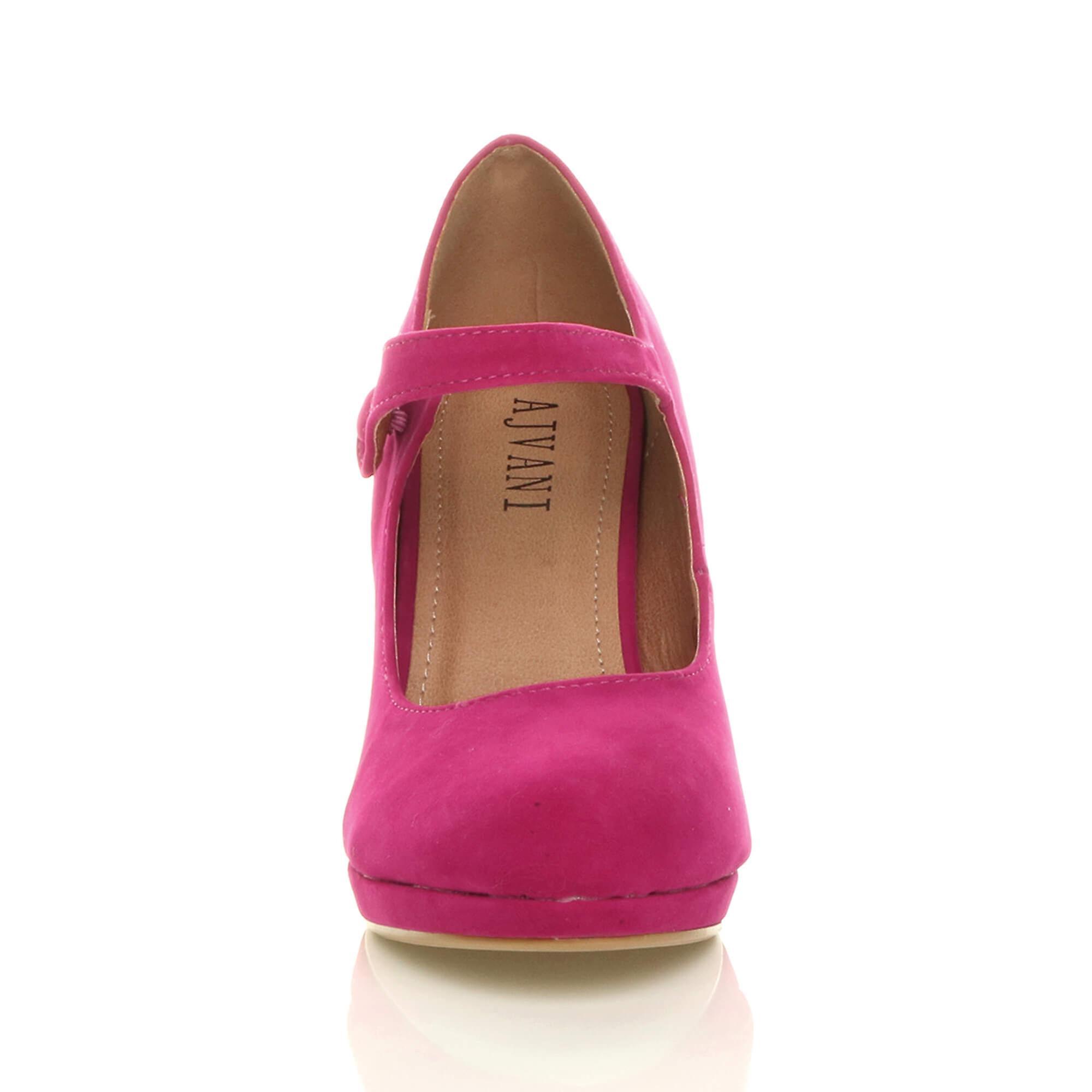Ajvani womens mid high heel mary jane jane jane evening work platform court shoes e1ee63