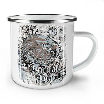 Eagle Head Old Vintage NEW WhiteTea Coffee Enamel Mug10 oz | Wellcoda