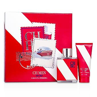 Carolina Herrera CH Sport Coffret : Eau De Toilette Spray 100ml/3,4 oz + après-rasage Baume 100 ml/3.4 oz 2p.