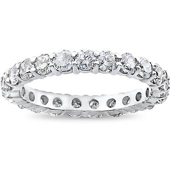 2ct Prong Diamond Eternity Ring 14K White Gold
