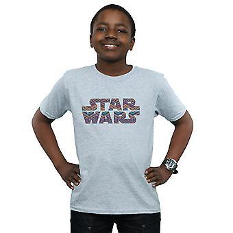 Star Wars gutter farge Aztec Logo t-skjorte