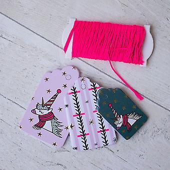Unicorn Mixed Themed Christmas Gift Tags x 30 Xmas Tags