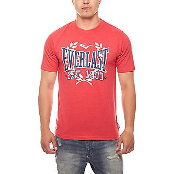 EVERLAST logo cotton T-Shirt boxing mens Red