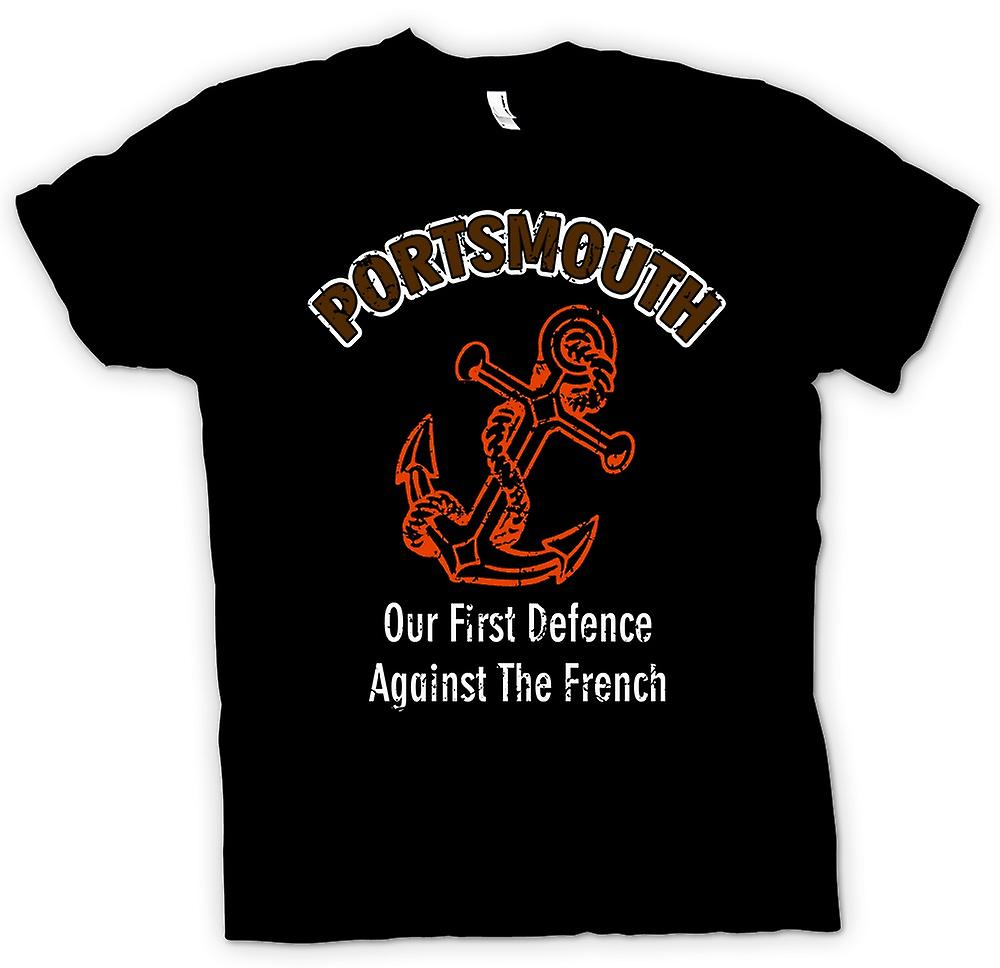 Mens T-shirt - Portsmouth Defence Against French - Funny
