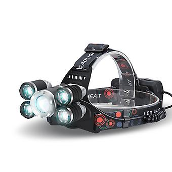 CREE T6 LED Headlamp - 2800 Lumen, 3 Cree LEDs, 5Light Modes, Adjustable Head Strap, Zoom Function