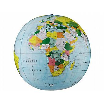 Inflatable World Globe Light Blue Political (12 inch)