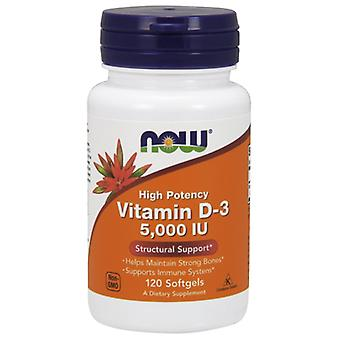 Now Foods Vitamin D3 5000 IU 120 Softgels (Vitamine e supplementi , Vitamine)