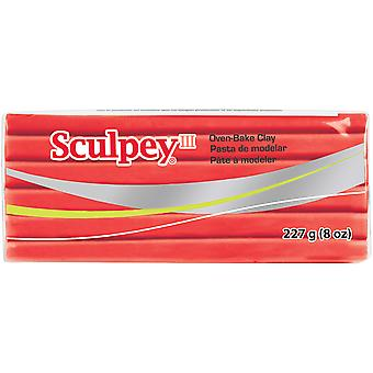 Sculpey III Polymer Clay 8oz-Red Hot Red