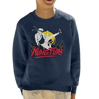 Kung Fury Flying Kick Kid's Sweatshirt
