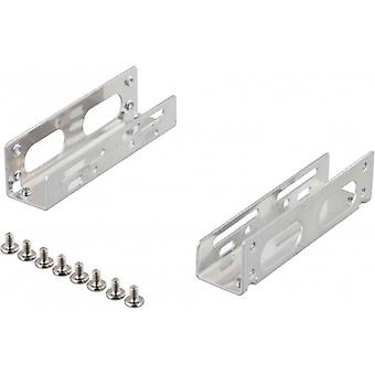 DELTACO angle brackets for 3.5 hard drive in the 5.25