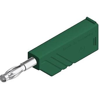 SKS Hirschmann LAS N WS Straight blade plug Plug, straight Pin diameter: 4 mm Green 1 pc(s)