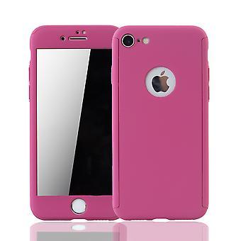 Apple iPhone 6 / 6s Handy-Hülle Schutz-Case Cover Panzer Schutz Glas Pink