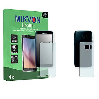 Samsung Galaxy S7 Screen Protector - Mikvon Health (Retail Package with accessories) (2x FRONT / 2x BACK) (intentionally smaller than the display due to its curved surface)