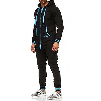 L.A.B 1928 men's jogging suit jumpsuit jumpsuit black/turquoise
