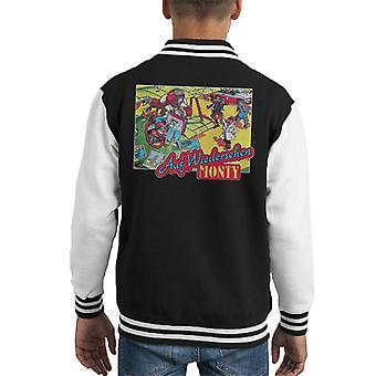 Auf Weidersehen Monty Cover Kid's Varsity Jacket