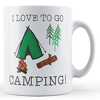 Jeg elsker at gå Camping! -Trykte krus