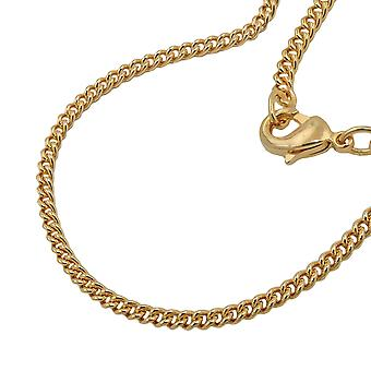 Curb chain 50cm gold plated