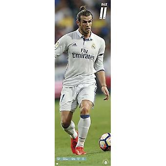 Gareth Bale long railway posters Real Madrid season 2016/17 T rposter