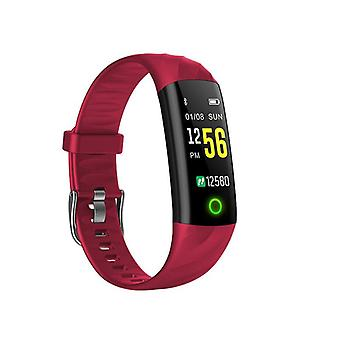 IP68 Water-safe Activity bracelet with heart rate monitor-Red