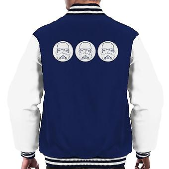 Original Stormtrooper Helmets Line Art Men's Varsity Jacket