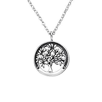 Tree Of Life - 925 Sterling Silver Plain Necklaces - W25321x