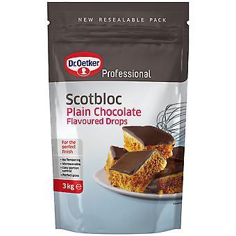 Dr. Oetker Scotbloc Plain dunkle Schokolade Tropfen