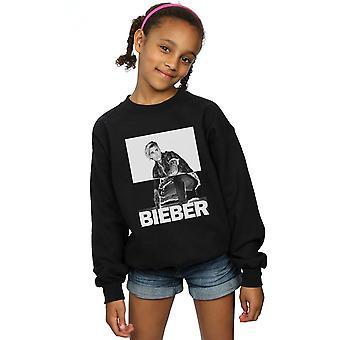 Justin Bieber-Mädchen-Split-Kontrast-Sweatshirt