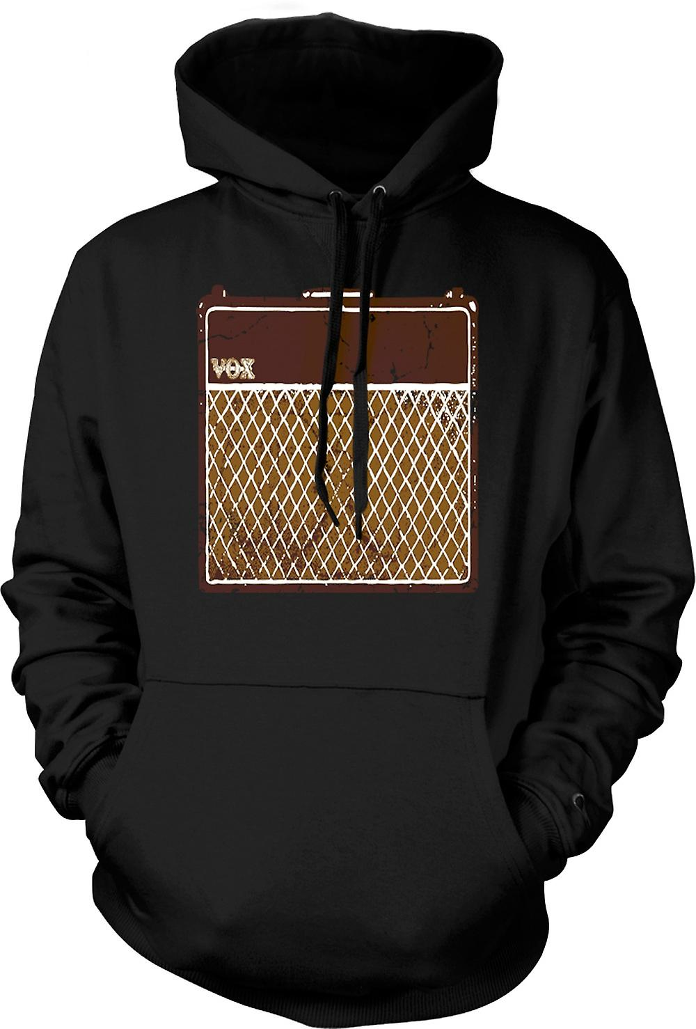 Mens Hoodie - Vox Guitar Amps AC30 - Blues Rock Music