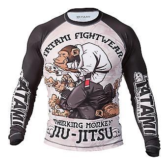 Tatami Fightwear Denker Affe Mens Rash Guard schwarz/weiß