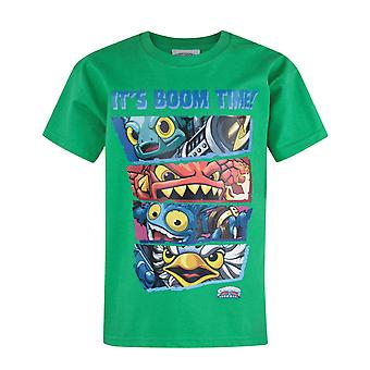 Skylanders Trap Team Boom tijd Kid's T-Shirt groen
