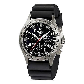 KHS watches mens watch platoon titanium chronograph KHS. PTC. DB