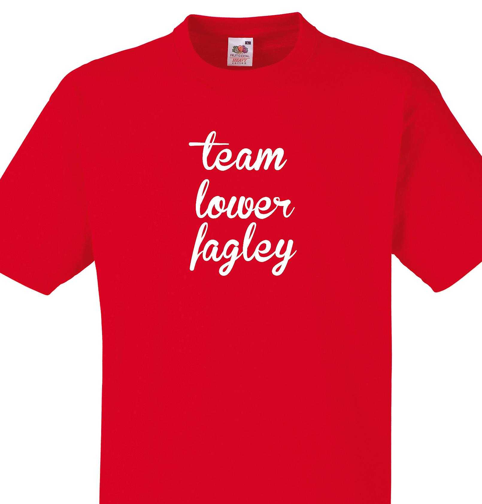 Team Lower fagley Red T shirt