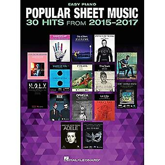 Popular Sheet Music - 30 Hits�from 2015-2017