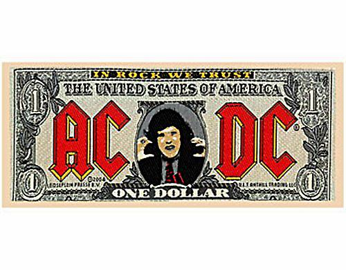 AC/DC Banknote sew-on cloth patch  (mm)
