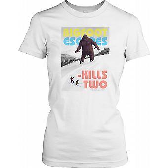 Bigfoot flyr dödar två damer T Shirt