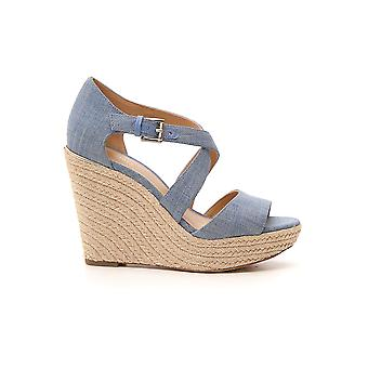 Michael Kors Light Blue Cotton Sandals