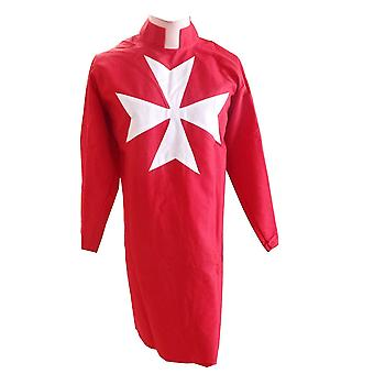 Masonic Knight Malta Tunic Red with (8 pointed) Malta Cross
