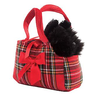 Fancy Pal Scottie in Tartan in Carry Bag