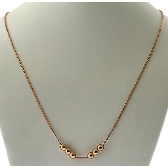 Alex And Ani 32 in. Expandable Chain Starter Necklace - 14KT Rose Gold Plated - CS18N32R