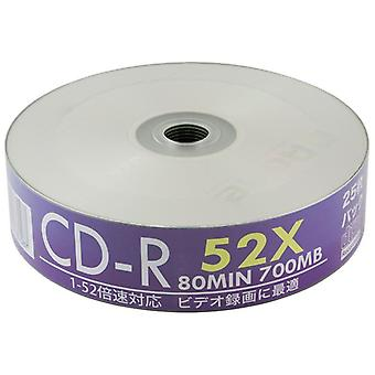 Quad 4 Pack Aone 25 Wanne weiß Full Face Inkjet Printable 52 x CD-R-Rohling CDR Discs Musikdaten/100 CDs