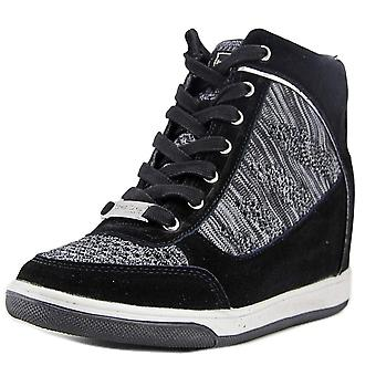 Bebe Womens Cheree Leather Hight Top Lace Up Fashion Sneakers